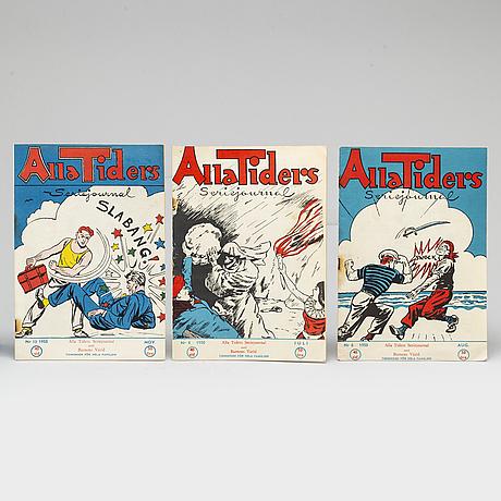 18 'alla tiders' magazines, 1950-1951.
