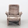 """Chair with foot stool, """"ds 50"""", de sede, 1970's."""