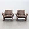 """A pair of chairs, """"ds 50""""; de sede, 1970's."""