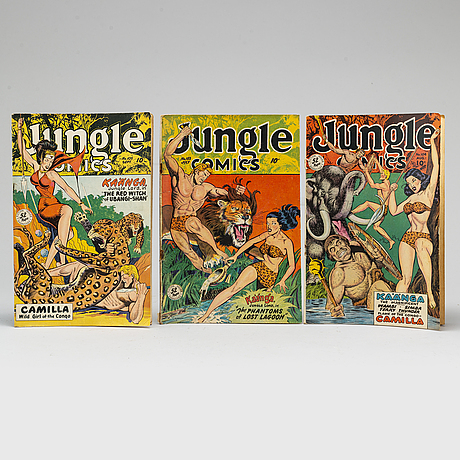 9 american magazines including jungle comics & popeye, 1948-1949.