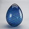 Sculpture, venini, egg shaped glass.
