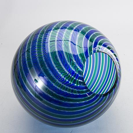 Skulptur, äggformat glas, venini.