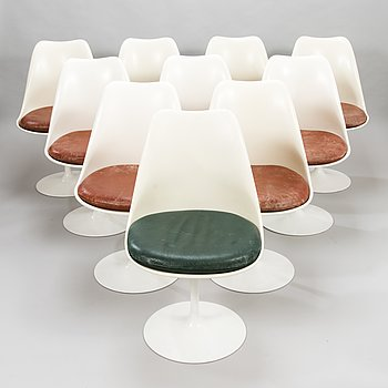 EERO SAARINEN, A set of ten 1970's 'Tulip' chairs for Knoll International.