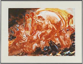 PETER DAHL, färglitografi, signerad Peter Dahl.