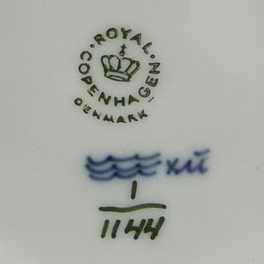 """Servis 43 dlr musselmalet """"halvblonde"""" och """"helblonde"""", royal copenhagen danmark porslin 1900-talets andra hälft."""