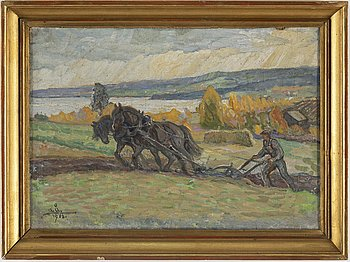 ACKE ÅSLUND, oil on canvas/panel, signed and dated 1903.