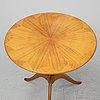 Carl malmsten, a 'båstad' mahogany table by möbelsnickare erik johansson.