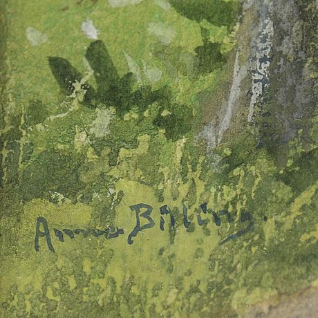 Anna billing, akvarell, signerad.