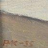 Oidentifierad konstnär, olja på duk, signerad ak och daterad -35.