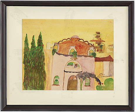 Primus mortimer pettersson, water colour on paper, signed.