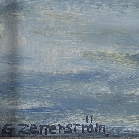 Gunnar zetterström, oil on canvas, signed.