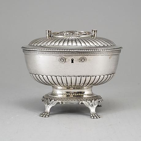 Johan gustaf Åkerman, sockerskrin, silver, stockholm 1824. karl johan.