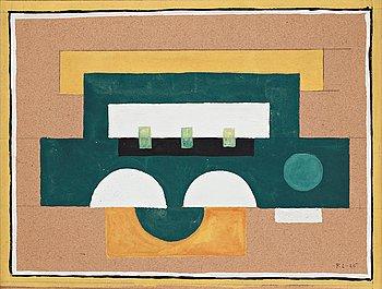 """624. Fernand Léger, """"Composition abstraite"""" (étude pour """"Jaune II"""")."""