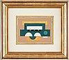 """Fernand léger, """"composition abstraite"""" (étude pour """"jaune ii"""")."""
