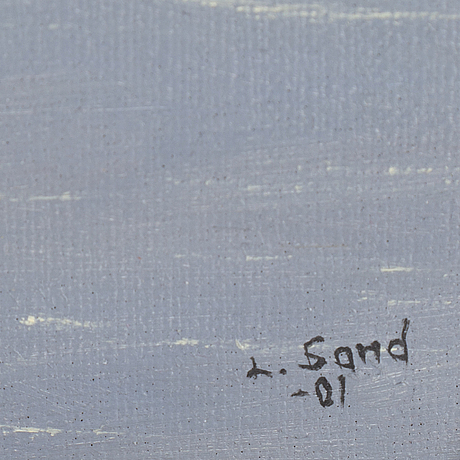 Lennart sand, loil on canvas, signed and dated -01.