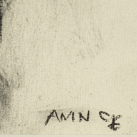 Anne-marie nordin, drawing signed amn.
