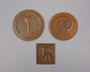 Parti minnesmynt, 6 delar, silver och brons, 1872-1968. ca 100 g silver.