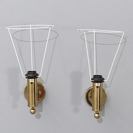 Bergboms, a pair of wall lamps, second half of the 20th century.