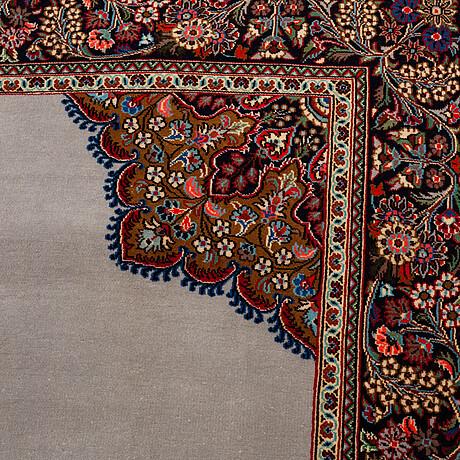 A rug, old qum, ca 208 x 135 cm.