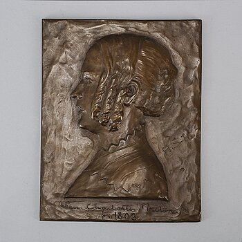 UNKNOWN ARTIST 20TH CENTURY, Bronze, embossment. Signed, foundry mark. 26 x 20.5 cm.