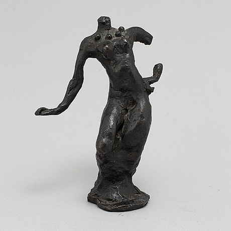 Peter dahl, a bronze sculpture, herman bergman fud, signed and numbered ea.
