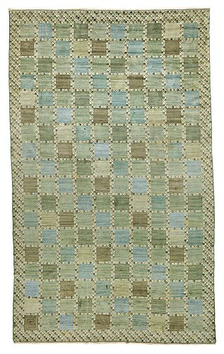 "Barbro nilsson, a carpet, ""gröningen"", knotted pile, ca 604,5 x 361,5-366 cm, signed ab mmf bn."
