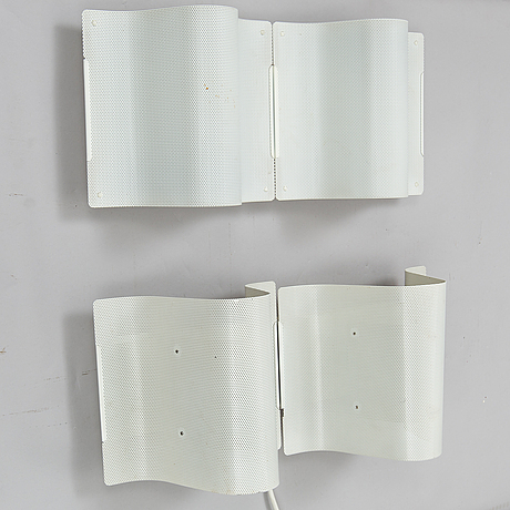 BÖrge lindau & bo lindecrantz, two wall lights from zero, 1980's/90's.