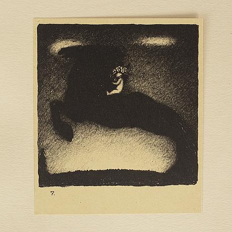 """John bauer, """"troll"""", ten  litographs by john bauer, ernst bauers förlag gothenburg, a. börtzells, 1915."""