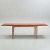 BØrge mogensen, possibly. a danish teak and oak dining table, 1960's.
