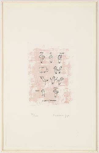 Madeleine pyk, lithograph in colours, signed 76/200.