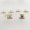 Ljuslampetter, ett par, förgylld mässing, 1800-talets slut.
