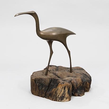 Tapio wirkkala,    'the bird' sculpture for kultakeskus, stamped tapio wirkkala.
