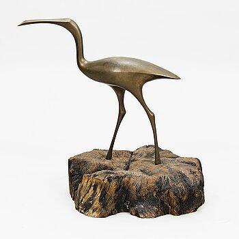 """TAPIO WIRKKALA, skulptur, """"Fågel"""", för Kultakeskus, stämplad Tapio Wirkkala."""