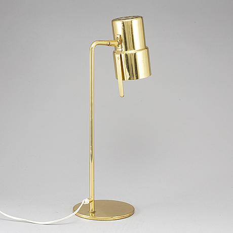 Hans-agne jakobsson, a brass table lamp, markaryd.