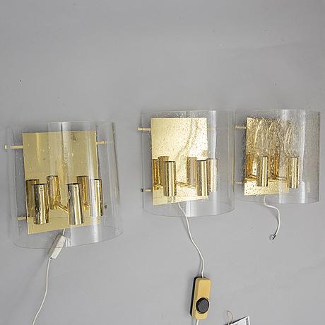 Three wall lights, høvik verk.