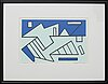 Olle baertling, serigraph in colours signed dated and numbered 1950-68 109/300.