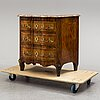 A second half of the 19th century walnut veneered chest of drawers.