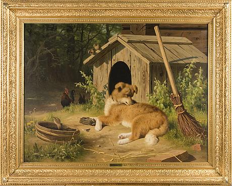 Ferdinand von wright, hund.