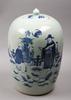 Urna med lock, porslin, kina. 1900-tal.
