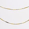 Necklace 18k gold w cultured pearls approx 3 mm.