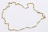 Halsband, 18k guld med odlade pärlor ca 3 mm.