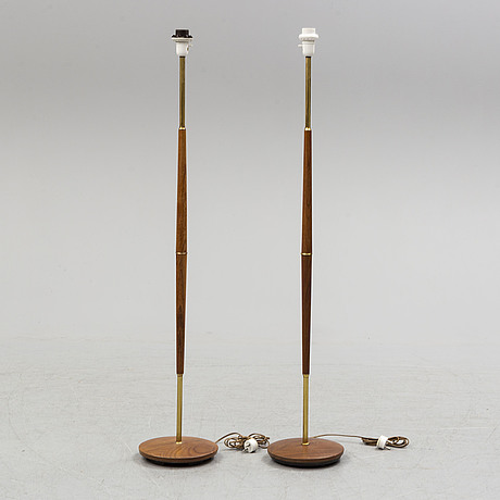 A pair of floor lamps, probably 1950s-60s.