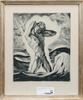 Okänd konstnär, etsningar, 4 st, sign, en dat 1942.