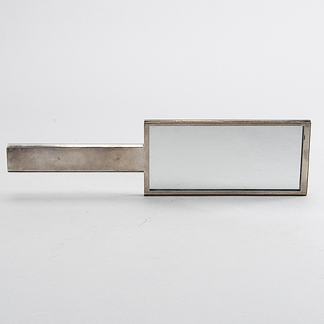 A swedish 20th century set of pirror and brush sterlig silver mark of wiwen nilsson lund 1940, total weight 467 gr.