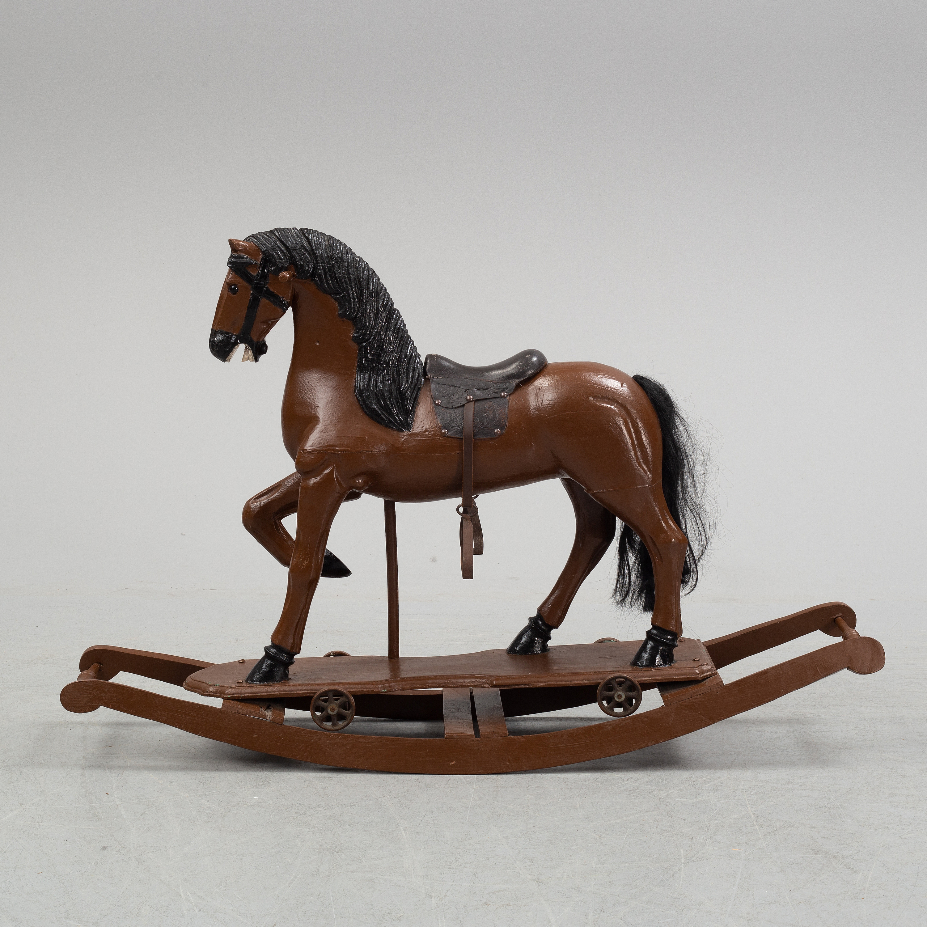 A Painted Rocking Horse From Around 1900 Bukowskis