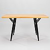 """Ilmari tapiovaara, a """"pirkka"""" table and four chairs manufactured by laukaan puu and designed in 1957."""