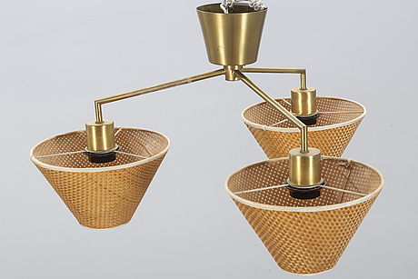 A mid 20th century ceiling lamp from ateljé lyktan.