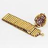 18k gold and almandine garnet bracelet, most likely 1800's.