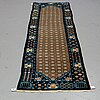 """A runner, an old china, ca 298 x 77,5 (as well as 1 cm flat weave at both ends), """"antique finish""""."""