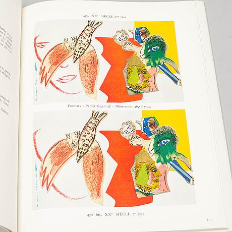 "Three chagall books , ""chagall lithographe, ii, iii och iv"", 1963-1974."